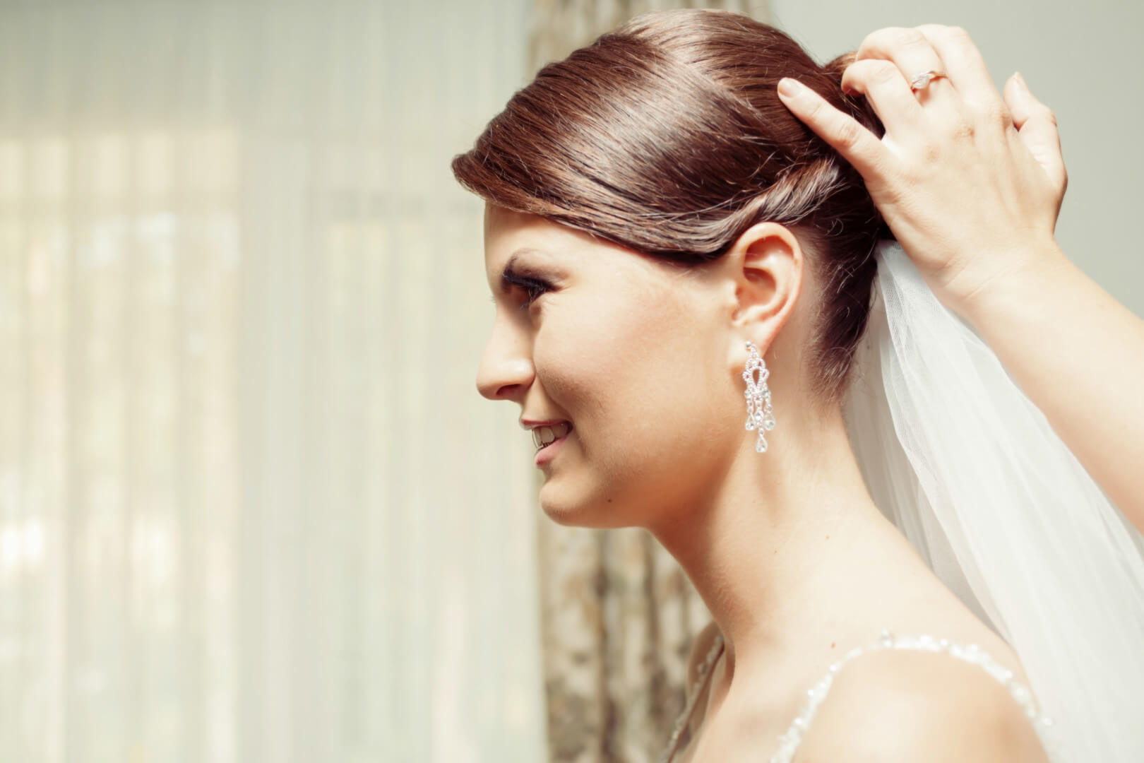 Wedding hairstyle for a bride